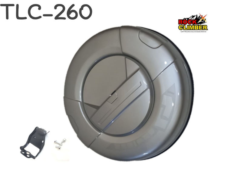 Picture of FJ CRUISER 2010+ TYRE COVER SILVER W/CAM HOLE CUP